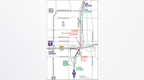 I-4 eastbound shutting down Sunday night for construction