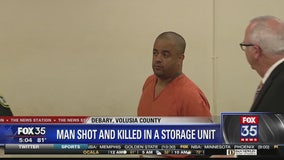Man shot and killed in storage unit