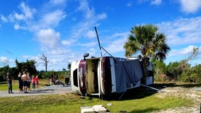 'Like a roller coaster': RV flips during tornado at Flagler County campground