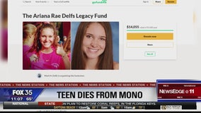 Florida teenager dies from mononucleosis