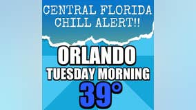 Coldest air of the season so far for Central Florida arrives tonight!