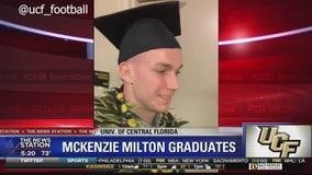 UCF's injured football star McKenzie Milton graduates