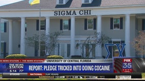 Report claims UCF fraternity pledge tricked into doing cocaine