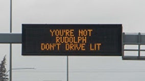 'You're not Rudolph, don't drive lit': Officials use creative reminders to encourage safe driving this holiday season