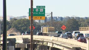 I-4 westbound's Colonial Drive exit shifting to left side