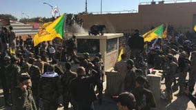 Militiamen breach US Embassy in Baghdad; Trump blames Iran