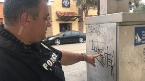 Graffiti going up as fast as Melbourne police can take it down