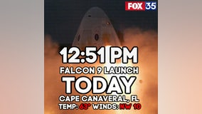 Favorable weather for Falcon 9 launch on Wednesday