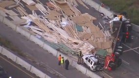I-4 reopens after semi overturns, shuts down all westbound lanes in Longwood