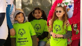 Elementary students celebrate peers competing in Special Olympics