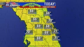 Cooler weather kicks off Christmas Eve in Central Florida