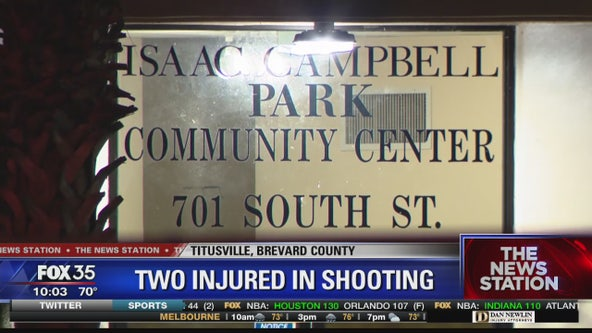 Two injured in shooting at Titusville park