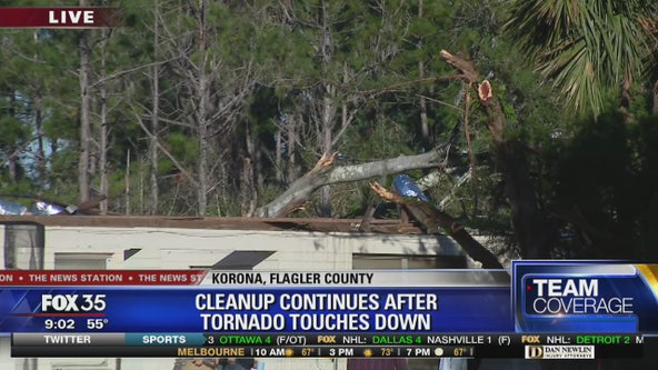 Clean up continues after tornado touches down