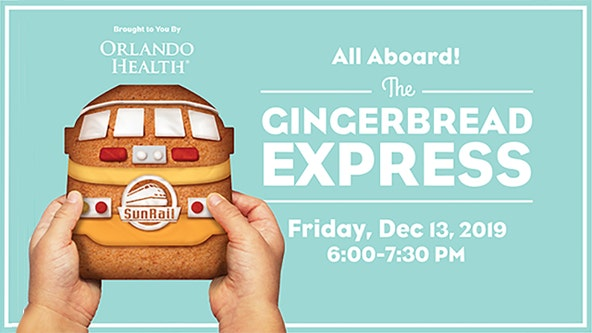 SunRail transforms into 'Gingerbread Express' on Dec. 13