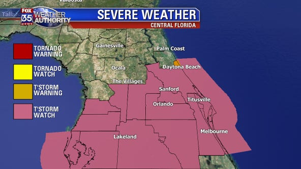 Severe thunderstorm watch in effect for all of Central Florida