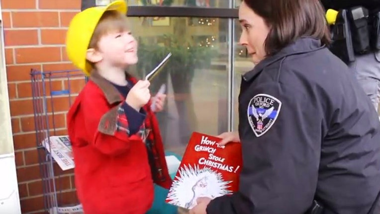 Police Officer Rachel Ratcliffe set up a Christmas caper for her 3-year-old neighbor to investigate this Christmas. The Oxford Police Department made a video of the investigation, and Bailey saved Christmas!