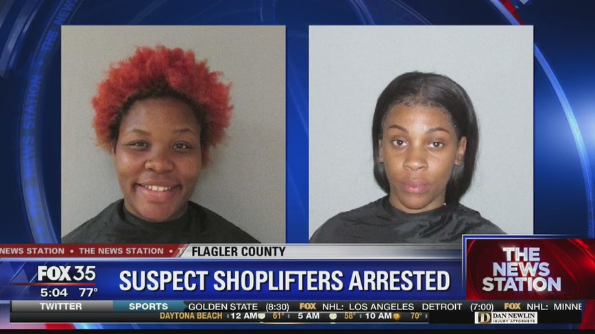 Two women accused in shoplifting spree