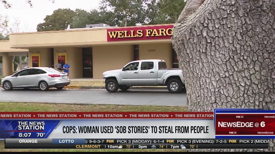 Police say Daytona Beach woman preyed on bank customers