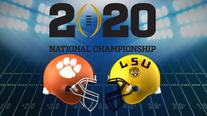 Top-ranked LSU faces No. 3 Clemson in CFP title game