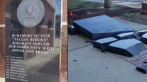 Monument honoring fallen Daytona officers destroyed in accident