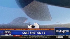 Deputies: 4 vehicles struck by gunfire on I-4 near Osceola County