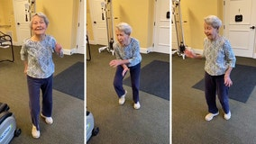 Energetic 91-year-old busts a move to 'Jailhouse Rock' at Indiana retirement home