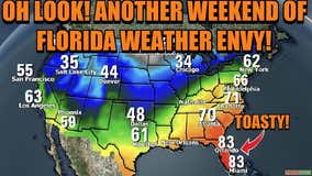 Hot weekend ahead after cold front moves through Central Florida
