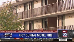 Deputies say riot followed arson at hotel