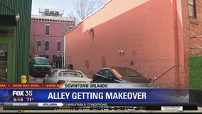 An alley in Orlando gets a makeover