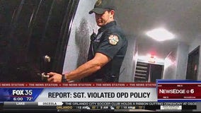 Report states police sergeant violated policy