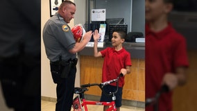 Kid receives new bike from Florida police department after his is stolen, police said