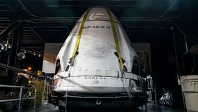 SpaceX Crew Dragon capsule back at Cape Canaveral