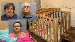 Sheriff: Mother, grandparents accused of locking children in wooden cages