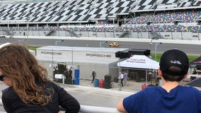 Scouts camp out at Speedway during 'Roar Before 24' races