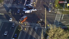 Florida crossing guard injured in three-car crash identified, still in critical condition