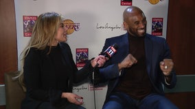 Kobe Bryant talks about his daughter Gianna handling the pressure at the free-throw line