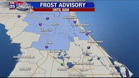 Cold temps, frost Monday morning