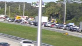 Portion of Northbound I-95 closed near Melbourne due to crash