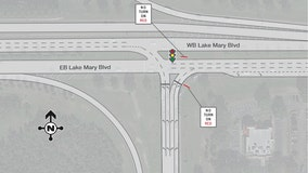 New traffic configuration at EB I-4 exit in Lake Mary