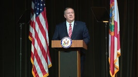 Secretary of State Mike Pompeo speaks at Sumter County Fairgrounds