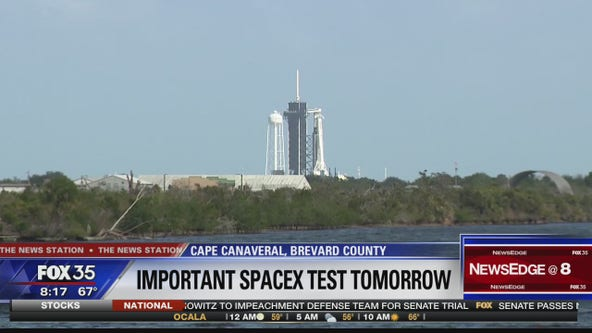 SpaceX to test Dragon Crew capsule abort system