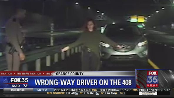Woman arrested for driving wrong way down SR 408