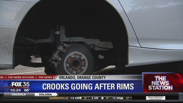 Crook going after wheels in neighborhood