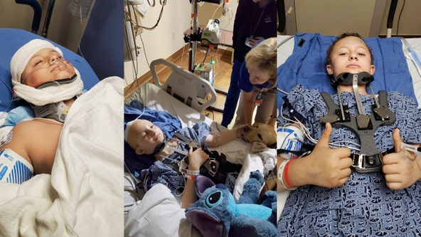 Lake County boy, 12, recovering after being hit at school bus stop in alleged hit and run