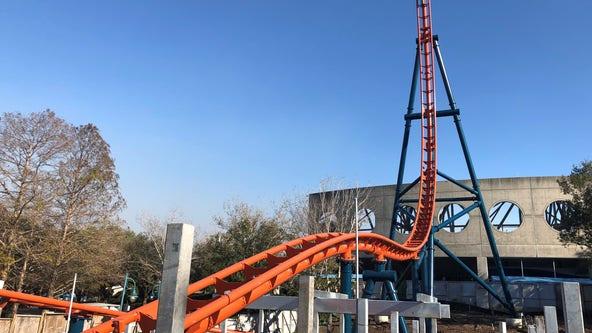 Behind the scene of SeaWorld's newest roller coaster, 'Ice Breaker'