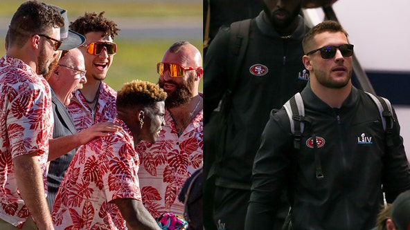 Chiefs, 49ers arrive in Miami for Super Bowl week