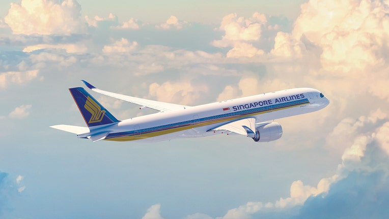 A Singapore Airlines Airbus A350-900XWB jetliner.
