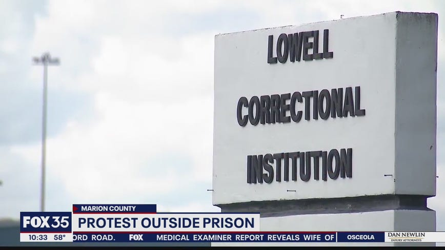 Protesters gather outside Lowell women's prison after correction officer's arrest