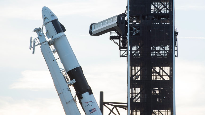 60 percent chance of favorable weather conditions for SpaceX manned mission on Wednesday
