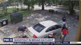 Shootout in broad daylight caught on Titusville surveillance camera